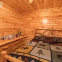 Knotty Pine Prefinished Paneling Bedroom