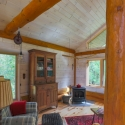 Studio  with White Washed Knotty Pine Paneling