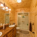 Prefinished Pine Paneling in Bathroom