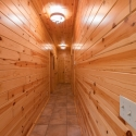 Prefinished Knotty Pine Paneling in Hallway