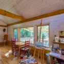 Artist Studio with White Wash Knotty Pine Paneling