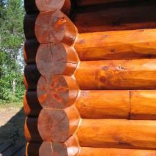 Close-up Saddle Notch Corners