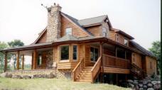 Log Home with Log Siding