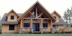 Lakefront Log Siding Home