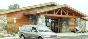 Log Siding on Retail Hunting & Fishing Store