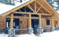 Log Siding used on this lodge restaurant