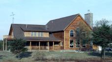 Cedar Paneling used as exterior siding