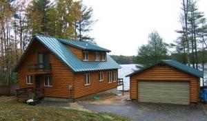 Log Cabin Siding on Lake