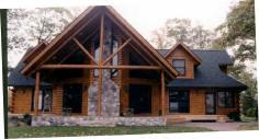 Grand Log Siding Porch