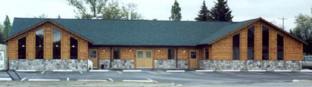 Log Siding on Retail Mall Storefront
