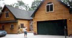 Custom Log Siding Home