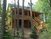 Log Cabin made with Log Siding
