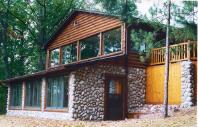 Log Siding Gable Restaurant