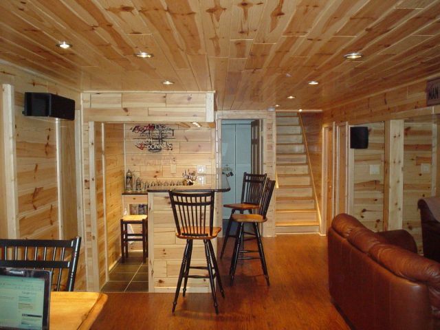 Using Our Knotty Pine Panels To Renovate Your Wine Cellar