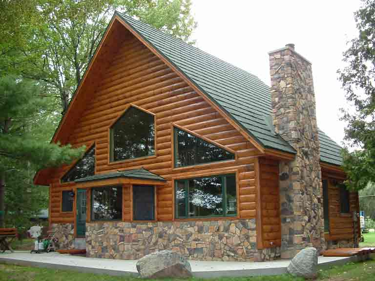 Premier 3x10 Pine Exterior Siding Real Log Siding