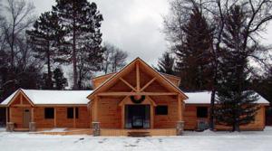 Log Siding Dentist Office Transformation