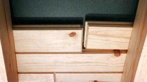 inspect your order of Knotty Pine paneling