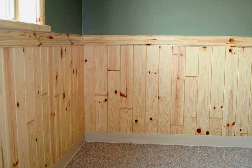 Get That Rustic Look With Knotty Pine Beadboard Paneling