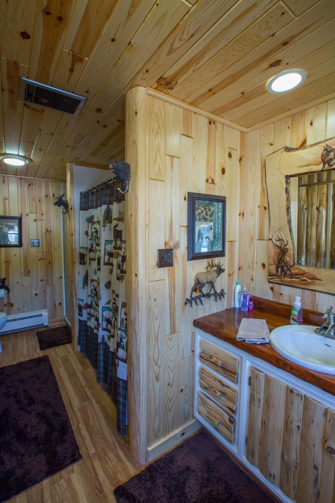 Rustic Bathroom Design With Our Decorative Wood Trim