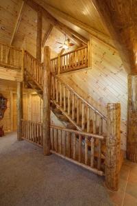 Log Stairs & Log Railing