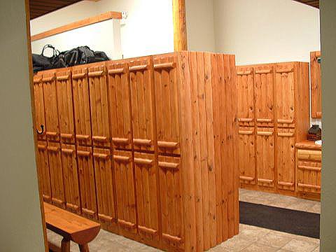 weathered knotty pine paneling