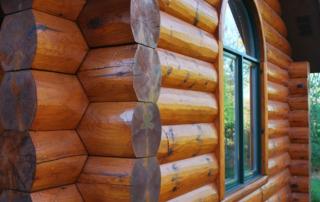 Saddle Notch Log Corners