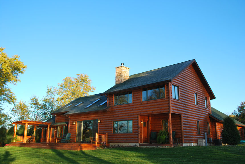 Log Siding Home