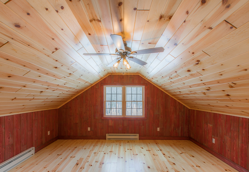 Barn Wood Paneling Red