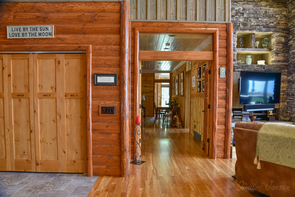 Weathered Gray Barn Wood and 2x8 Stained Log Siding
