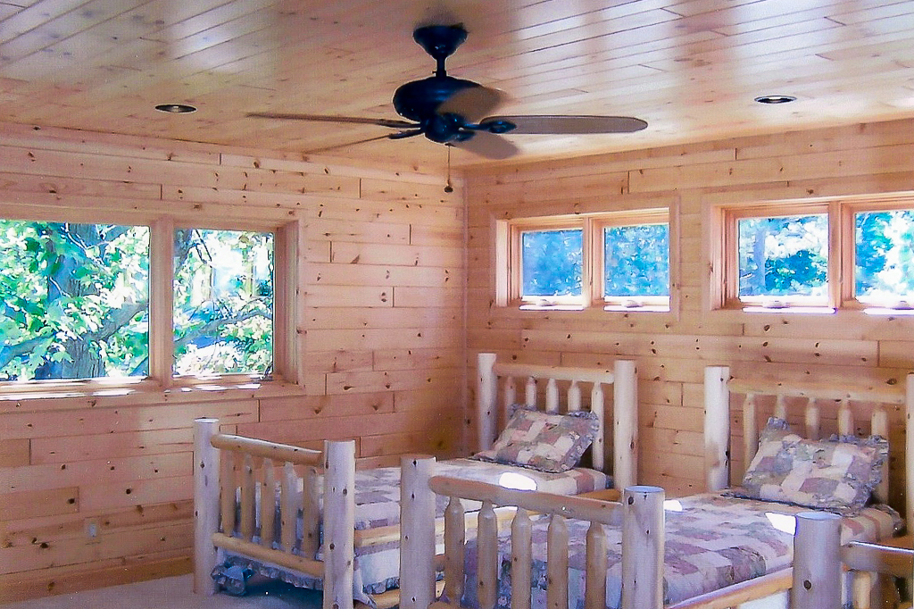 Knotty Pine Paneling Can't Be Beat for a Log Home Interior