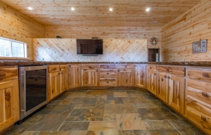 Knotty pine can create a rustic look in your home