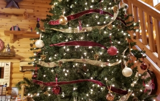 Make the Holidays Bright with Knotty Pine Paneling