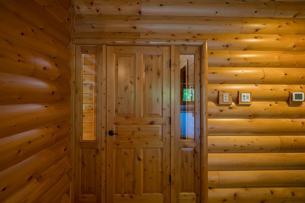 Cedar Log Siding in Pool Room