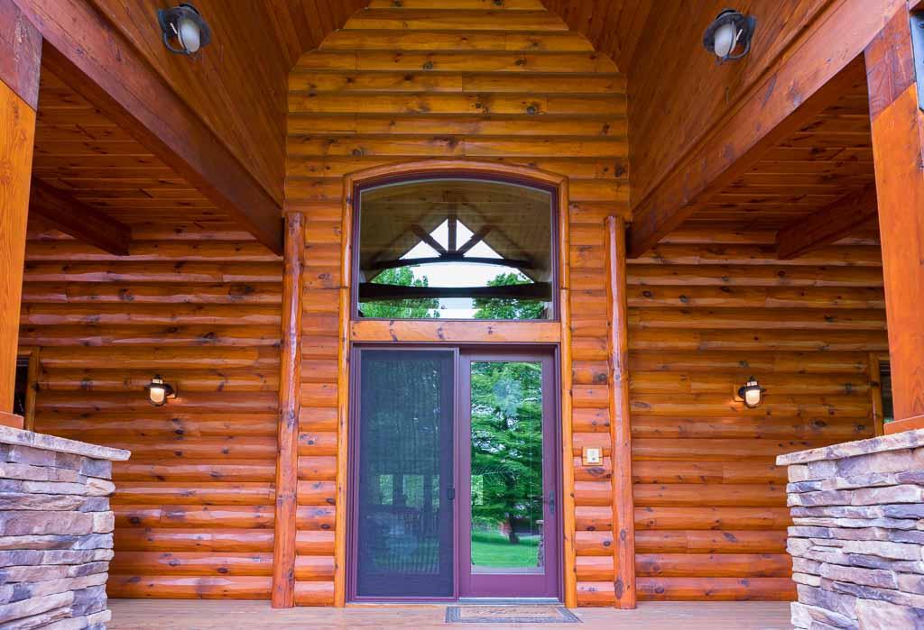 3x10 Pine Log Siding Entrance way