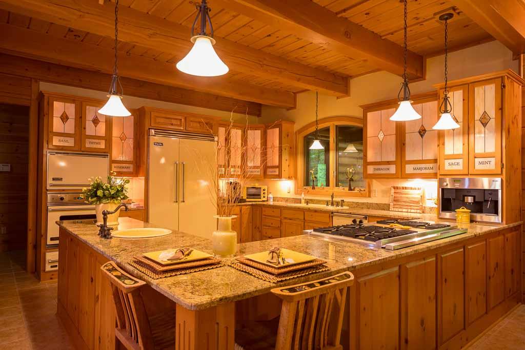 Custom White Pine Kitchen Cabinets