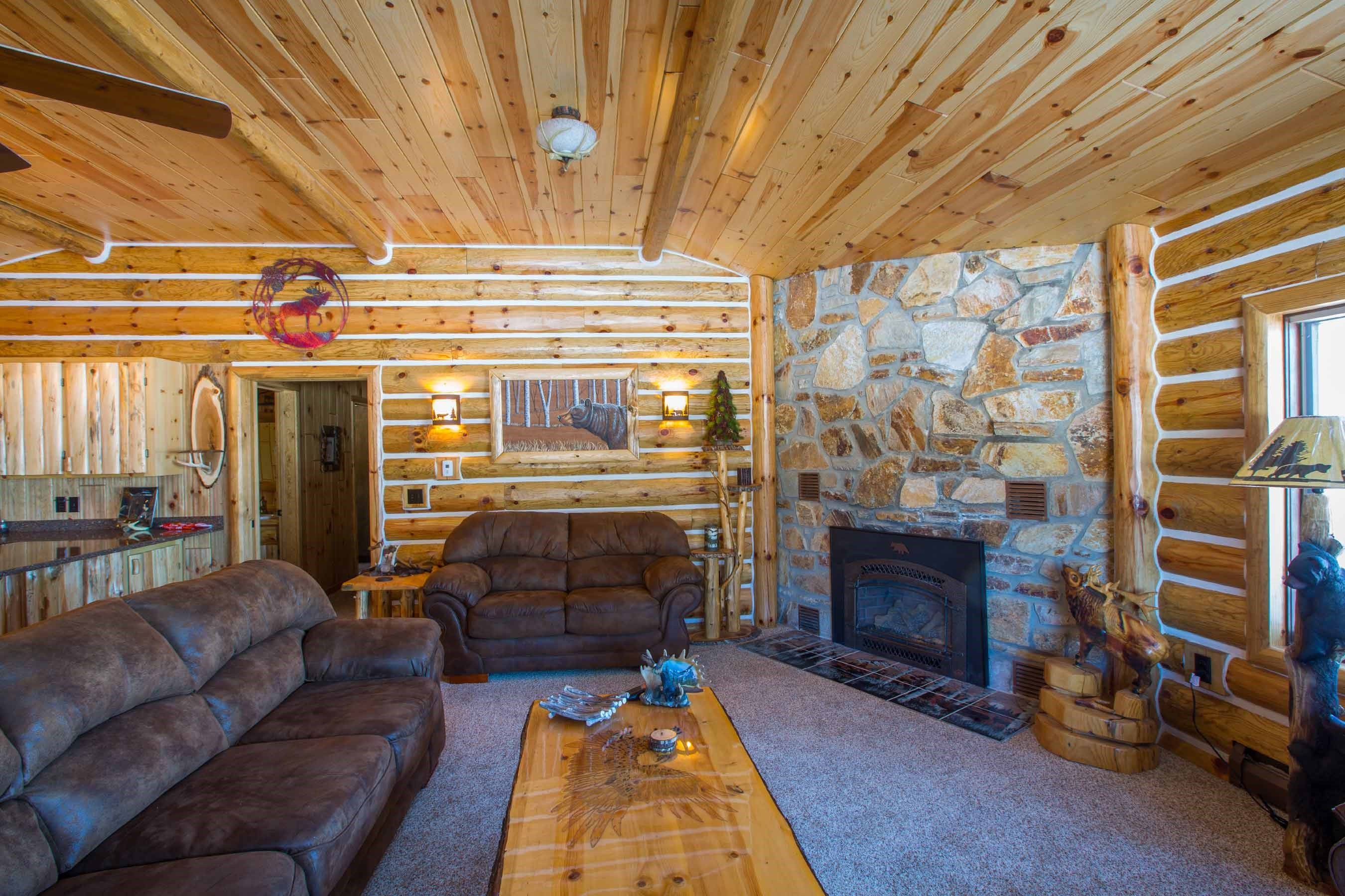 Turn Your Den Into a Rustic Log Cabin Atmosphere