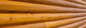 Hand Peeled Log Siding and Peeled Logs Look Authentic
