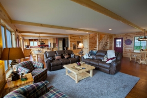 Paneling is an interior standard for log cabins, log homes, and some types of conventional houses.