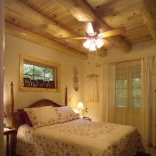bedrooms with log cabin essentials