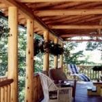 log cabin porches