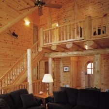 dens and living rooms in log cabin homes