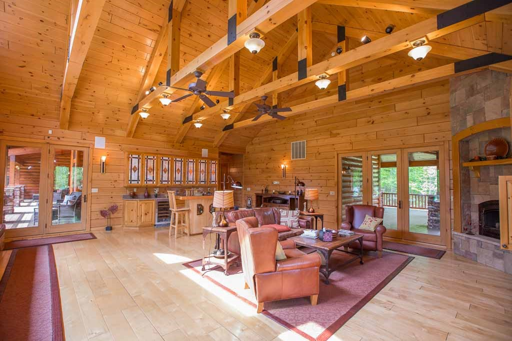 The Secret S Out Knotty Pine Paneling Is The 1 Choice For Log Cabin Walls