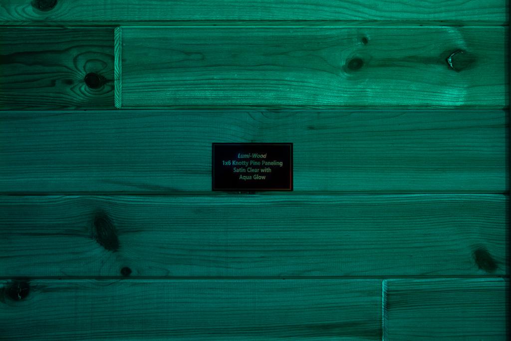 1x6 Knotty Pine Paneling w/Clear Coat w/Aqua Glow w/Blue Glow