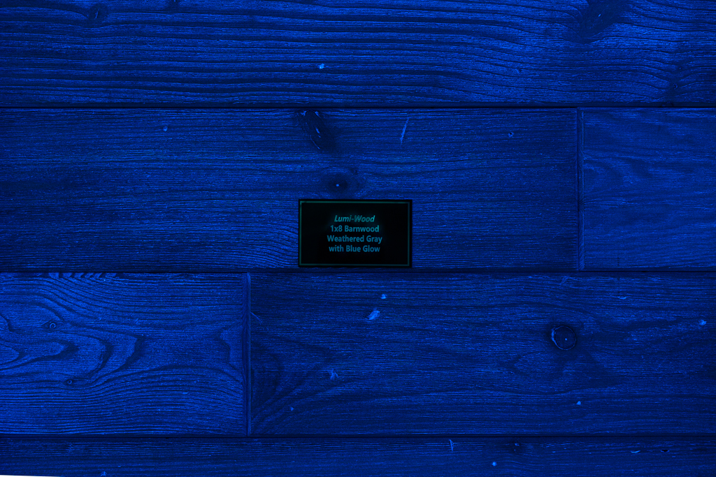 Barnwood Weathered Gray w/Blue Glow