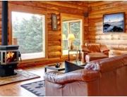 Log Home Wood Burning Stove