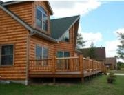 Cedar Log Siding Protection